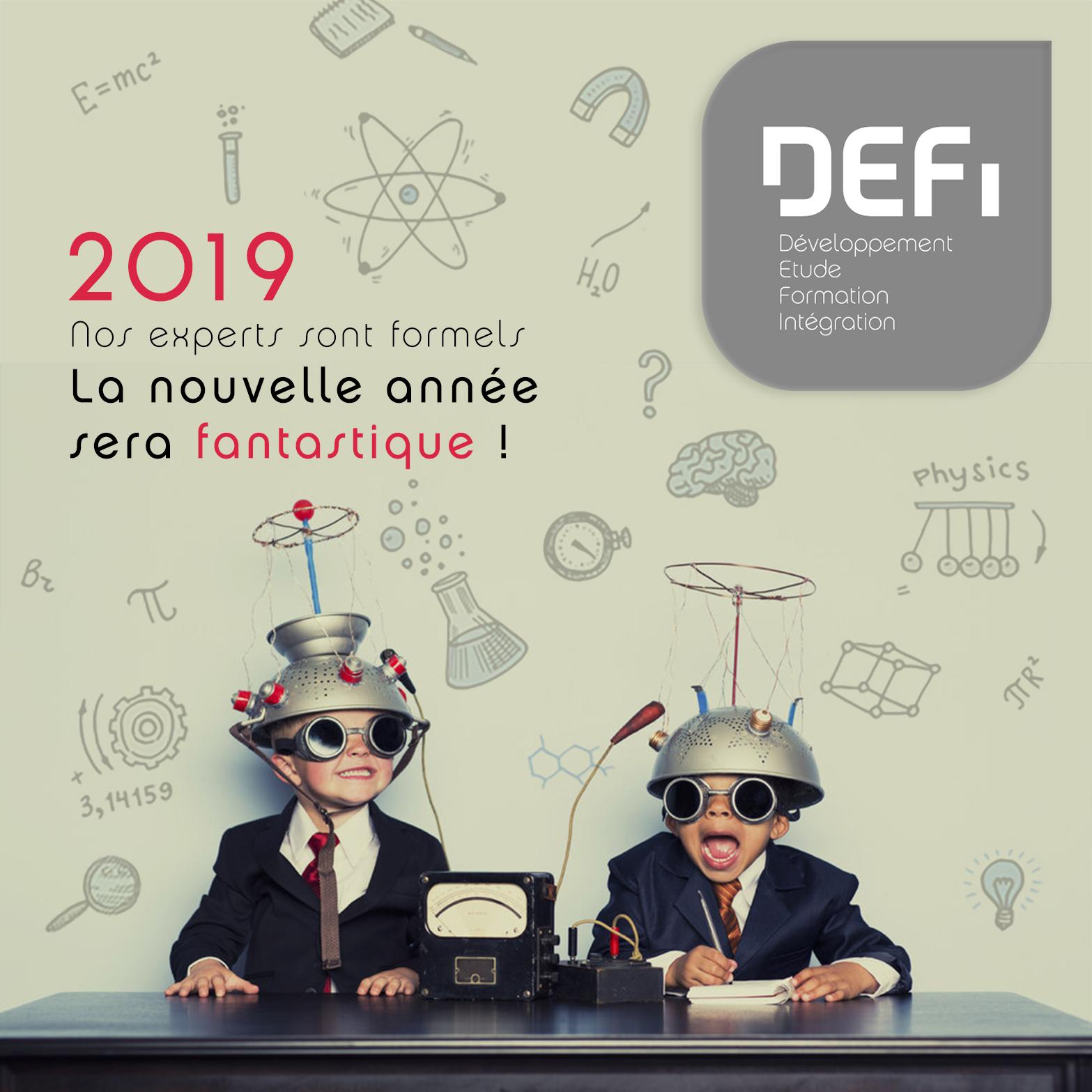 DEFI vous souhaite une excellente année 2019.